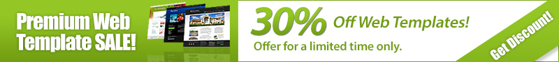 Web Template Spring Discount!