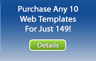 10 Website Template Package Sale
