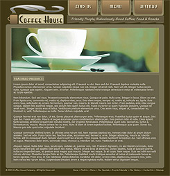 Featured coffee shop product page.