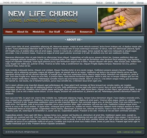 modern church website template christian web template. Black Bedroom Furniture Sets. Home Design Ideas