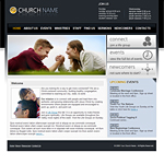 Church website template #27