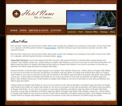 hotel website template.