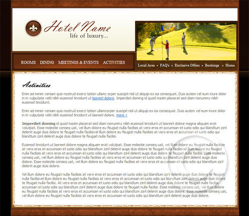 Hotel site template.