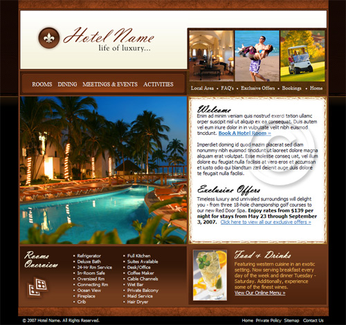 Hotel web template.