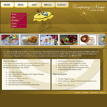 Restaurant cafe website template #44