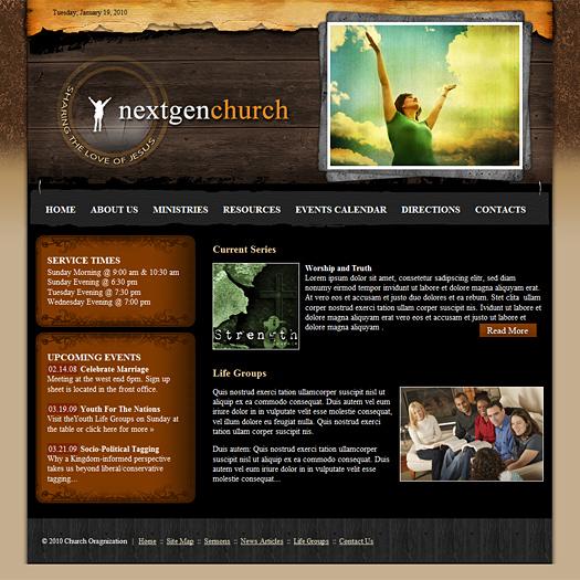 Church Web Template